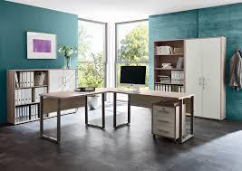 Esszimmer Arbeitszimmer Kombinieren Arbeitszimmer Büro Office Edition In Sandeiche Weiß Set 2