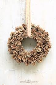 pine cone wreath a fabulous fall bleached pinecone wreath garden therapy