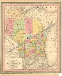 Uw Milwaukee Map Map Of Wisconsin From 1850 The State Of Wisconsin Was Crea U2026 Flickr
