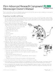 flinn advanced research compound microscope owner u0027s manual