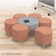 blossom soft seating modular upholstered stool u0026 lounge seat
