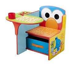 desk chair with storage bin amazon com delta children chair desk with storage bin sesame