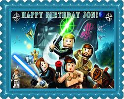 wars edible cake toppers lego wars 6 edible birthday cake or cupcake topper edible