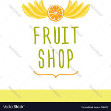 editable fruit fruit shop editable template logo or signage vector image