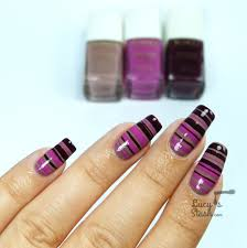striped gradient nail art feat kiko poker nail lacquer from