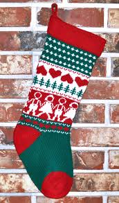 100 wool handmade knit christmas stockings style 2 with name
