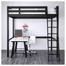 lit mezzanine noir avec bureau storå structure lit mezzanine noir ikea