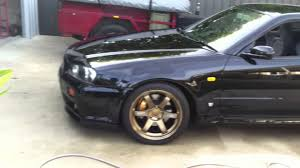 nissan r34 black black skyline r34 gtr v spec youtube
