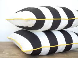 White Patio Cushions by Black And White Outdoor Pillow Cover Black Outdoor Cushion
