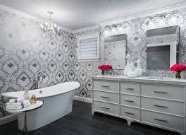 wallpaper designs for bathroom the 25 best small bathroom wallpaper ideas on half