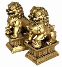 choo foo dogs feng shui classical protection symbol fu dogs