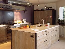 cuisine bois acier cuisine xavier z chêne de bourgogne acier oxydé ciré