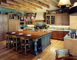 armoire de cuisine rustique cuisines cuisine rustique plafind bois française îlot bois armoires