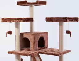 Cat Condos Cheap Frisco 72 Inch Cat Tree Large Brown Chewy Com