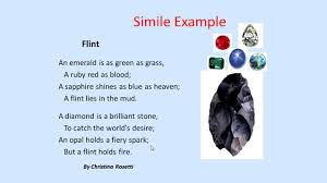 poetry simile metaphors and personification video lesson