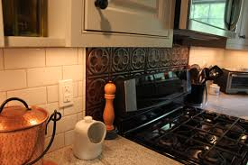 tin backsplash tiles kitchen contemporary with backsplash granite