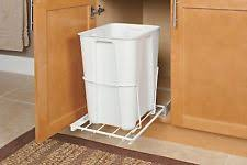 Pull Out Trash Can 15 Inch Cabinet Pull Out Trash Can Ebay