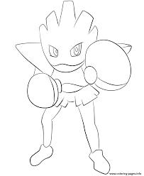 107 hitmonchan pokemon coloring pages printable
