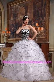 black and white quinceanera dresses white and black quinceanera dress strapless tucks zebra 217 08