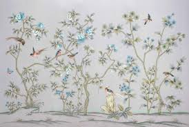 wallpaper with birds hand painted silk wallpaper painting flower and fruit with birds