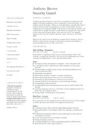 resume for security guard with no experience security guard resume sample download retail no experience example
