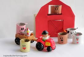 Toy Barn With Farm Animals Barn Yard U0026 Farm Animals Craft Tp Tubes Craft