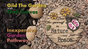 garden pathway diy youtube exteriors pebble stone patio flooring