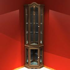 cherry wood corner curio cabinet with furniture stunning for