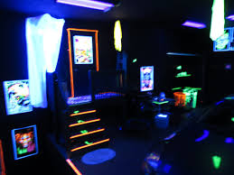 my blacklight garage party room youtube