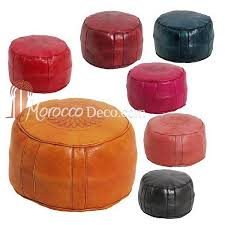 Leather Ottoman Round by Buy The Best Leather Moroccan Ottomans Online Black Round Pouffe