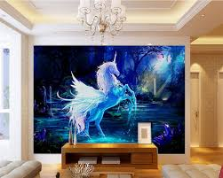 beibehang murals living room sofa bedroom tv background fairy tale beibehang murals living room sofa bedroom tv background fairy tale unicorn oil painting picture wallpaper cartoon room wallpaper in wallpapers from home