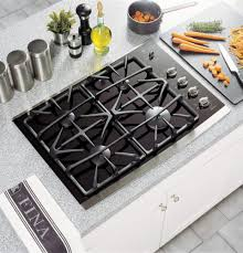 Flat Cooktop Ge Jgp940sekss 30 Inch Gas Cooktop With 4 Sealed Burners