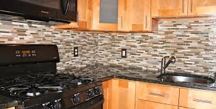 mosaic tile backsplash brown beige glass metal mix backsplash tile