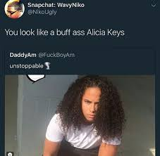 Alicia Keys Meme - you gon keep on fallin down those stairs if you mess with buff ass