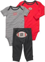 Baby Boy Football Clothes Amazon Com Carter U0027s Baby Boys U0027 3 Pc Turn Me Around Set Infant
