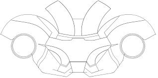 halloween mask printable templates ironman helmet template costumes pinterest helmets 3d paper