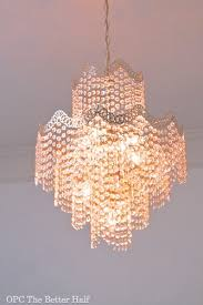 Easy Chandelier My Easy And Inexpensive Chandelier Upgrade One Project Closer