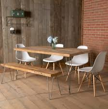 Long Table With Bench Dark Wood Dining Table Andh Room Magnificent Rustic Brown
