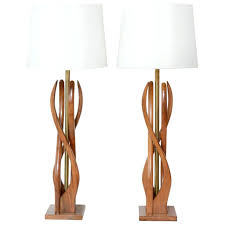 table lamps the allium floor lamp in walnut zebrawood by