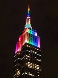 empire state building lights tonight on twitter the empire state building is lit up in rainbow colors