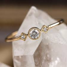 unique gold engagement rings unique engagement ring 14k solid gold 15ctw stacking