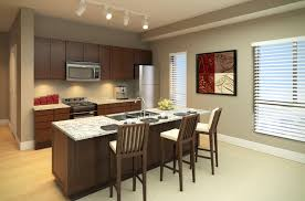 one wall kitchen layout with island excellent grey kitchen designs feat four spot ceiling lights over