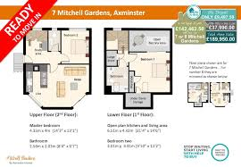 7 mitchell gardens 2 bed duplex apartment axminster homes