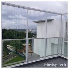 irregular shape balcony invisys u2013 invisible grille u2013 singapore