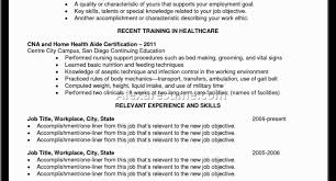 resume endearing resume for cna with no experience ideal resume