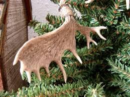 moose r us detailed miniature moose and deer antler ornament