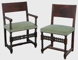 chaises louis xiii chaise à bras et chaise louis xiii epoque xviie siècle