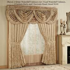 Sears Custom Window Treatments by Curtains And Valances Home Regent Gold Leaf Waterfall Valance