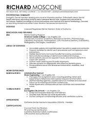 assistant resume template dental assistant resume templates dentist sles visualcv 5