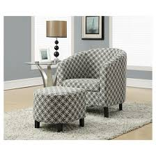Accent Chair With Ottoman Accent Chair And Ottoman Gray Circles Everyroom Target